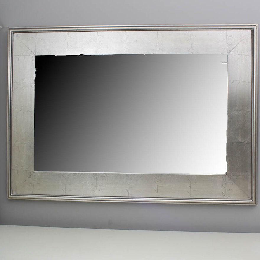 1897a6a66c6 Two Pottery Barn Silver Tone Mirrors   EBTH