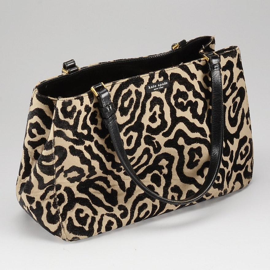 Kate Spade Animal Print Upholstery Bag