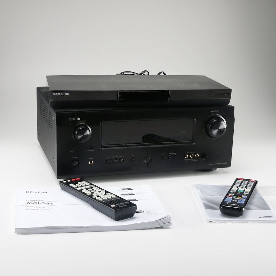 Samsung Blu-Ray Disk Player and Denon AVR-591 Receiver