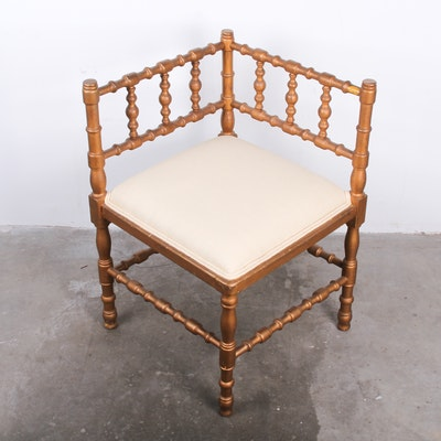 19th Century French Corner Chair - Vintage Chairs, Antique Chairs And Retro Chairs Auction In
