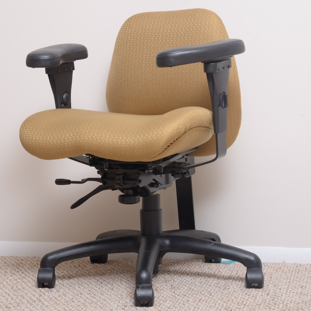 Four Rolling Girsberger Eurochair Desk Chairs Ebth