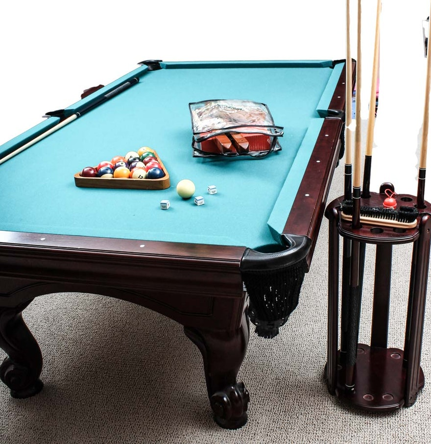 Billiard table with accessories ebth - Billiard table accessories ...