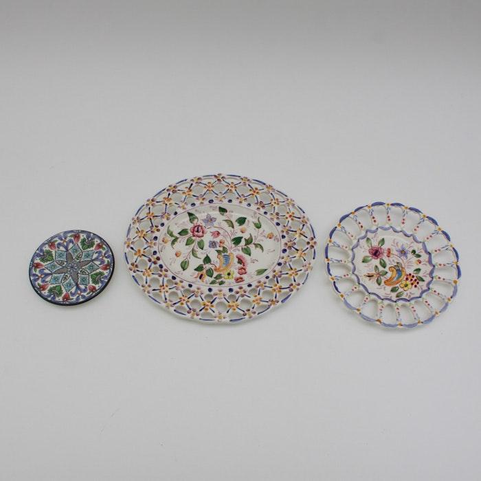 Spanish u0026 Portuguese Decorative Pottery Plates ... & Spanish u0026 Portuguese Decorative Pottery Plates : EBTH