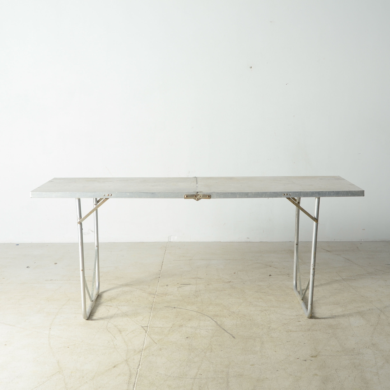 vintage aluminum folding table : ebth