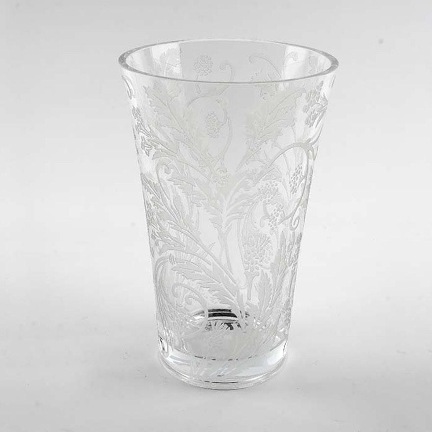 Christofle Crystal Marly Vase Ebth