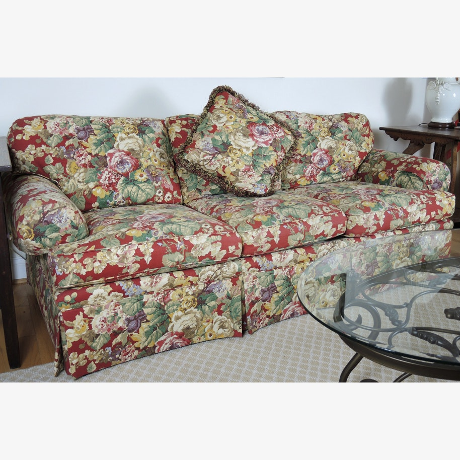 Ordinaire Vanguard Craftwork Red Floral Sofa ...