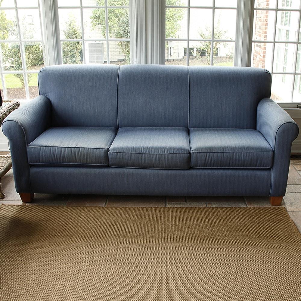 Bassett Blue Herringbone Sofa ...