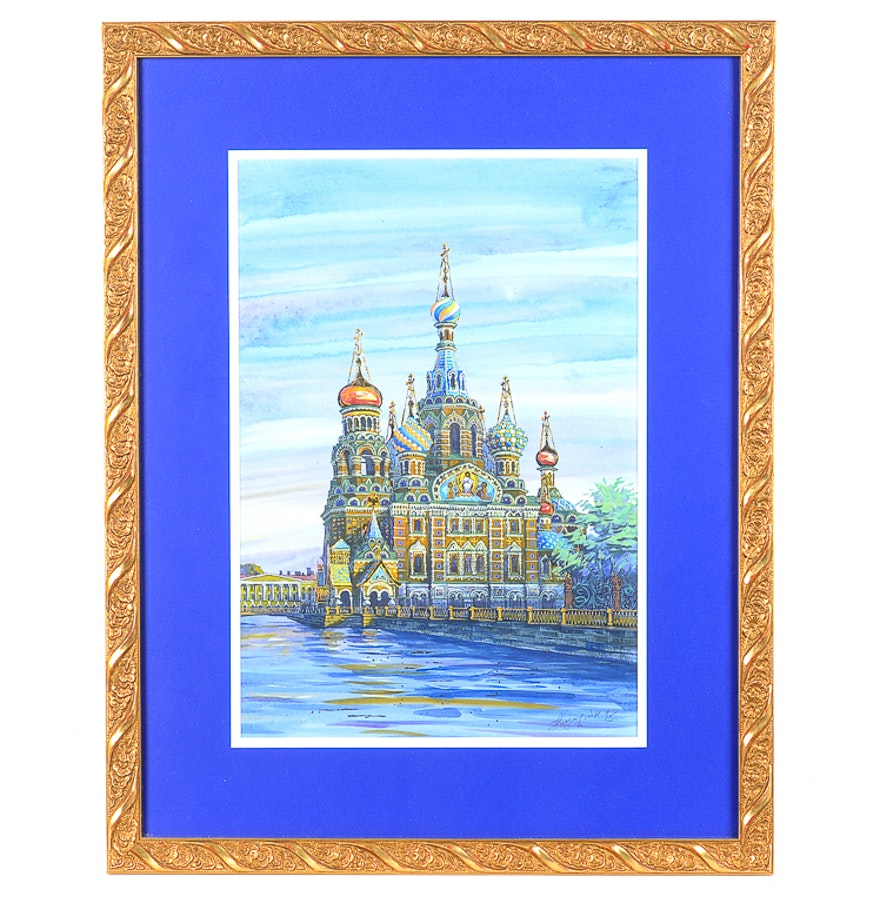 Original signed acrylic painting on paper ebth for Acrylic painting on paper tips