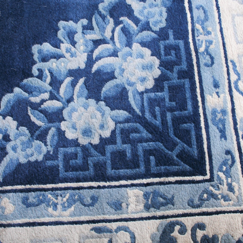 Blue and white chinese vase carpet ebth for Blue and white carpet