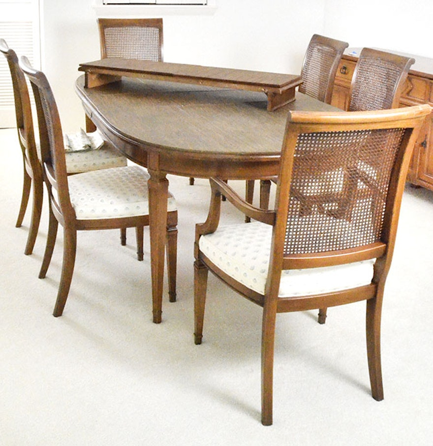 late th century hepplewhite style seven piece dining set : seven piece dining set