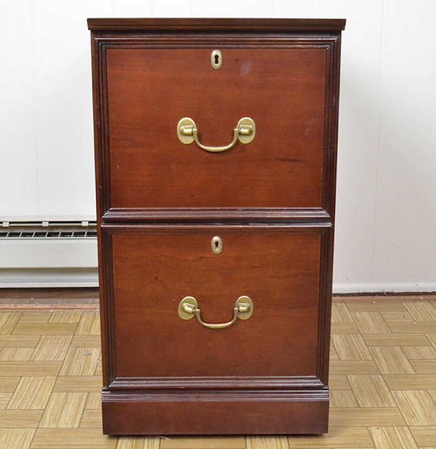 Bombay company two drawer file cabinet in mahogany finish for Bombay mahogany kitchen cabinets