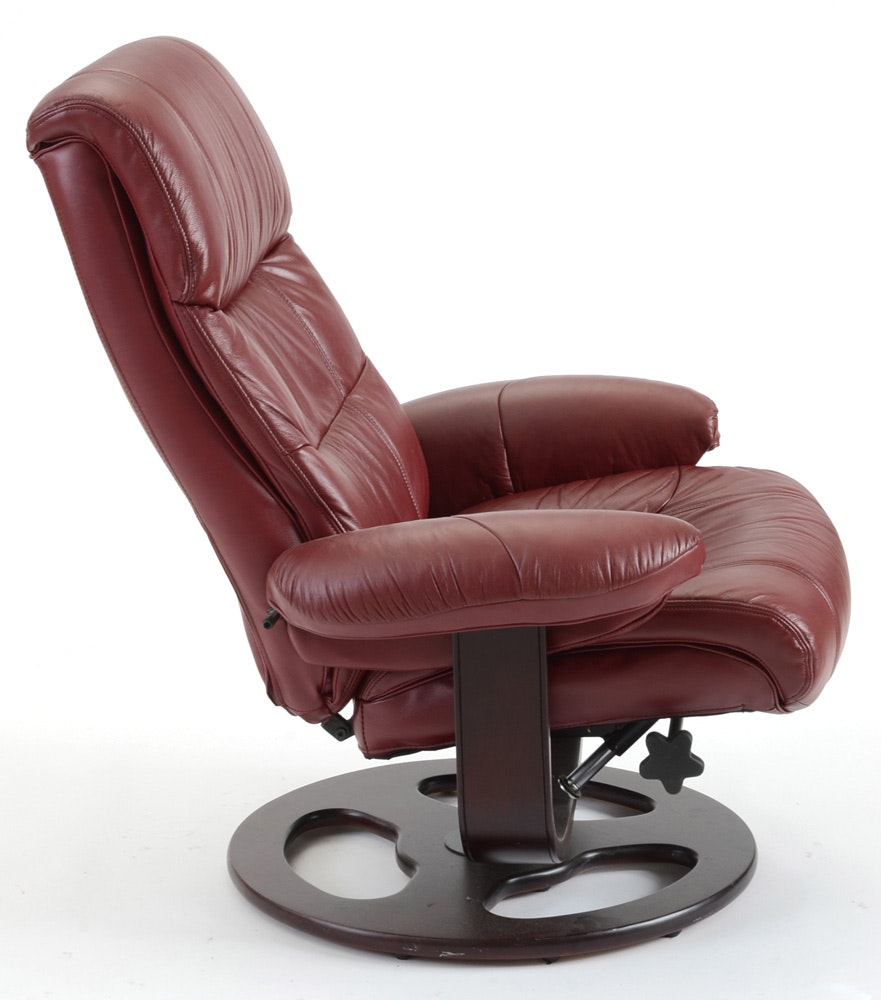 Lane Furniture Maroon Quot Rebel Quot Recliner Chair With Ottoman