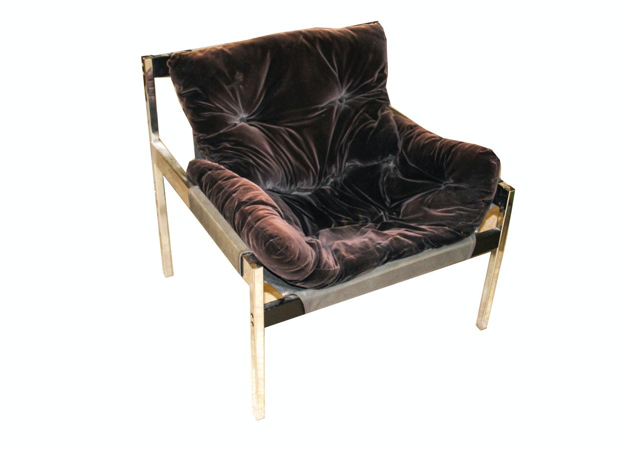1960s Steelcase Velvet Lounge Chair ...