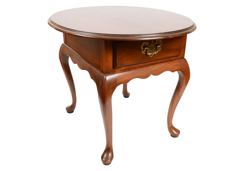 Harden Cherry Queen Anne Style Side Table ...