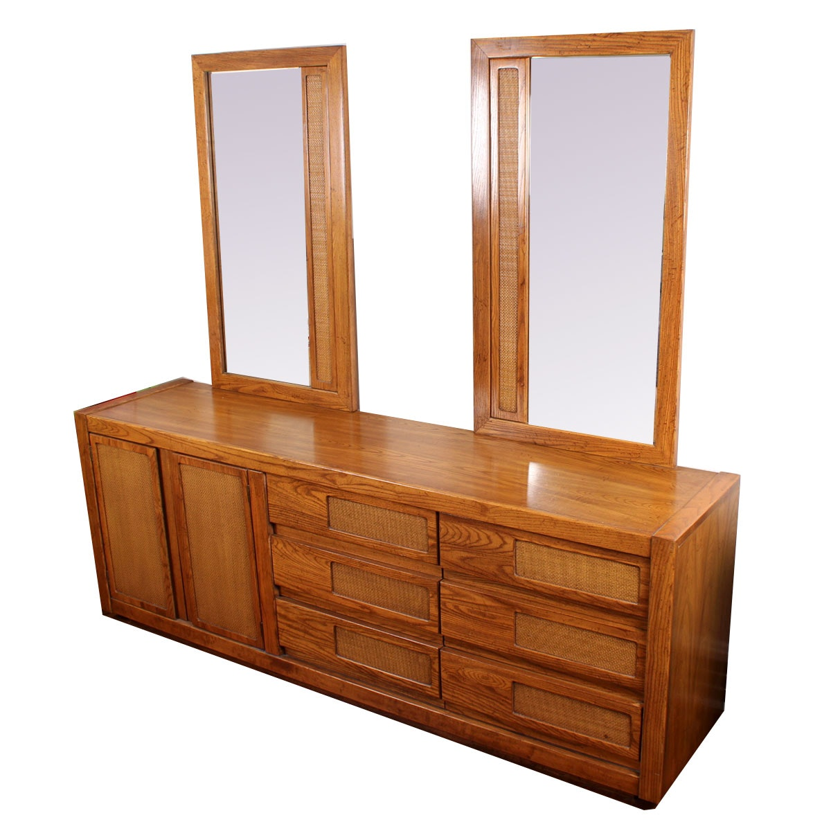 Vintage Burlington House Furniture Double Mirror Dresser ...
