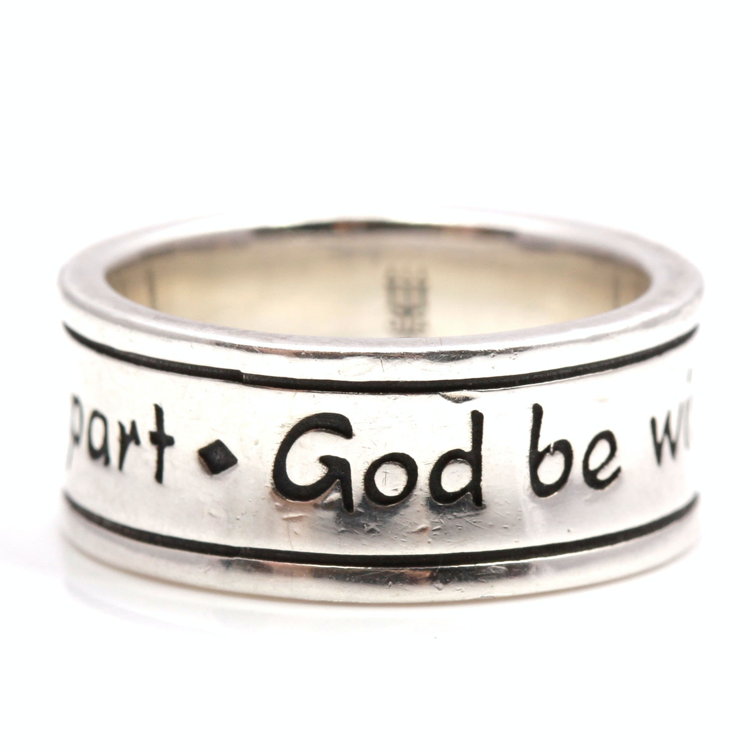 James Avery Sterling Silver God Be With Us Together And Apart Ring