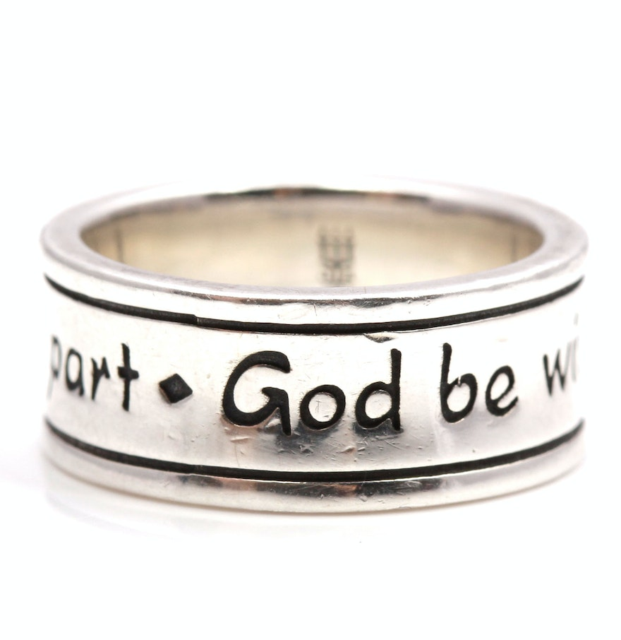james avery sterling silver god be with us together and apart ring james avery wedding bands James Avery Sterling Silver God Be With Us Together And Apart Ring