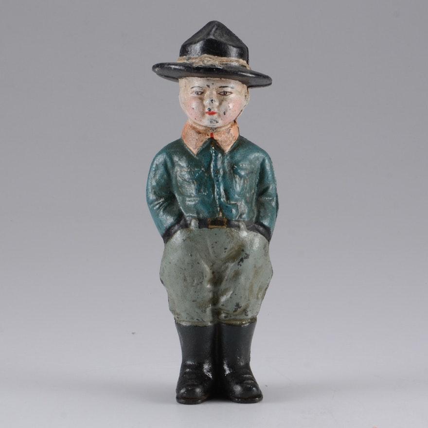 WWI Era Doughboy Figural Cast Iron Bank