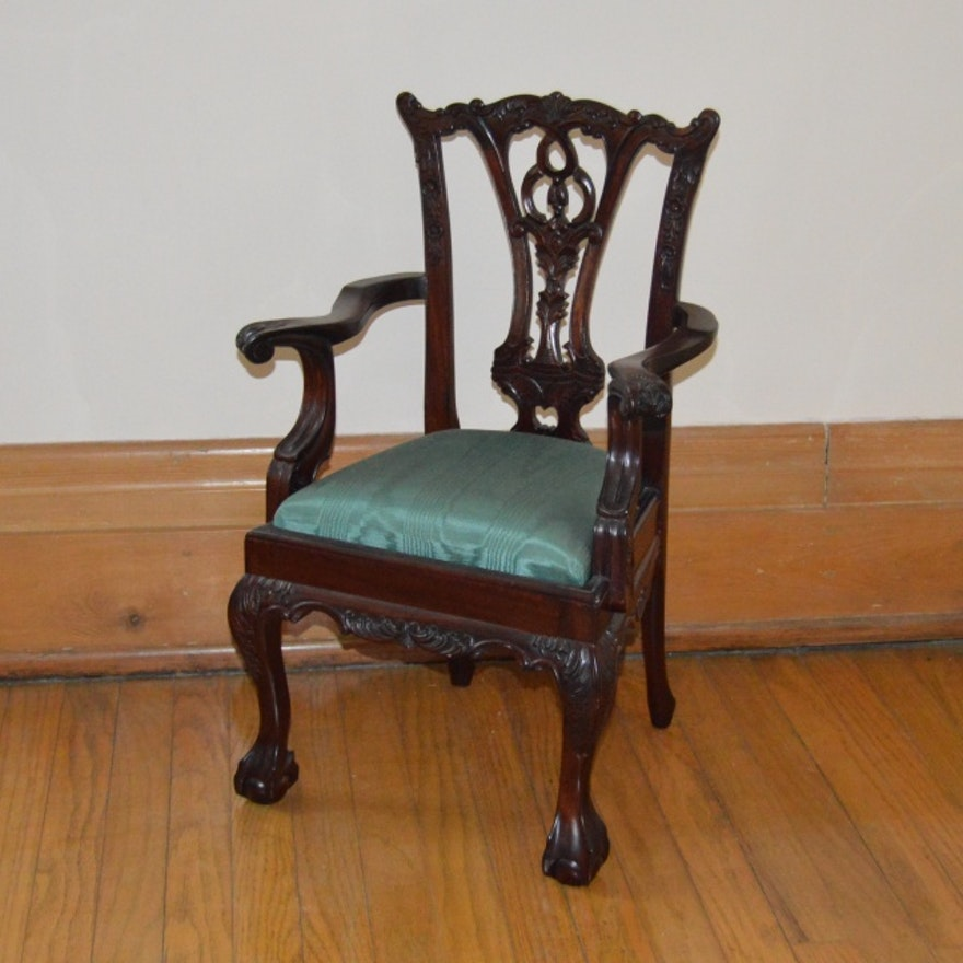 Salesman Sample Antique Chippendale-style Carved Chair ... - Salesman Sample Antique Chippendale-style Carved Chair : EBTH