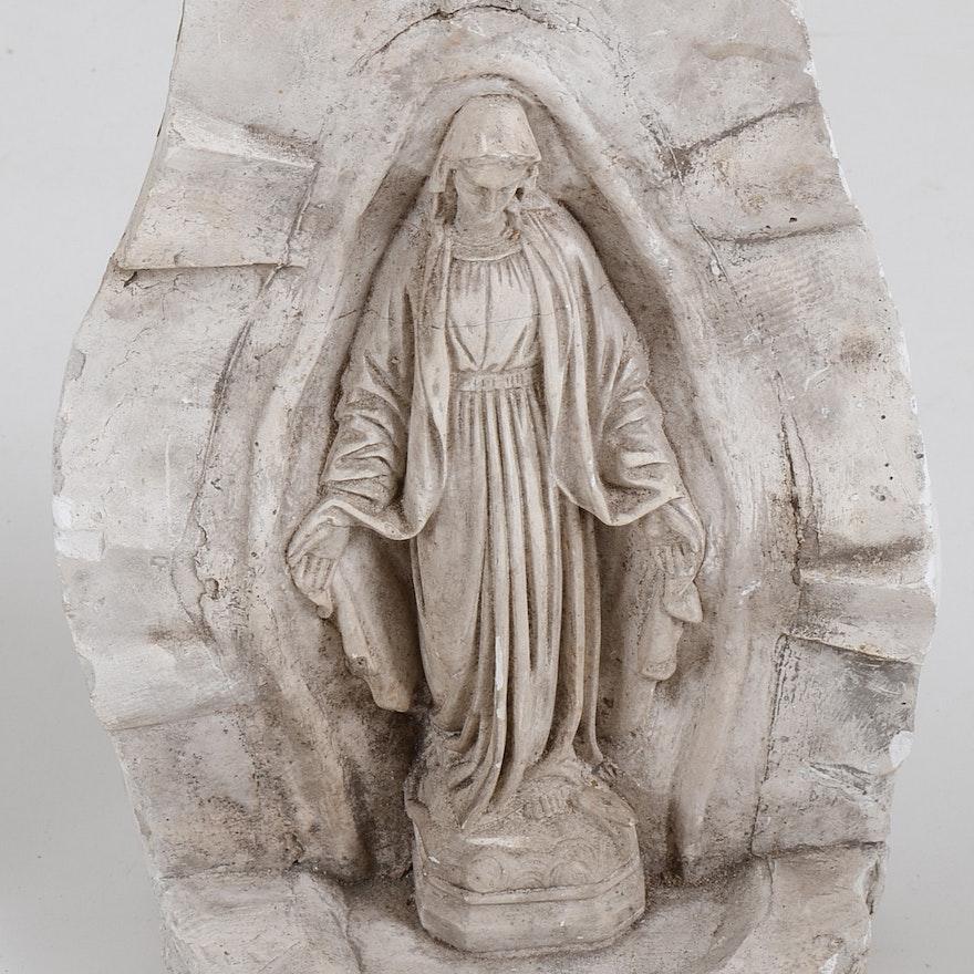 Virgin Mary Plaster Figural Mold