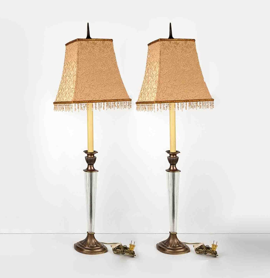 pair of tall table lamps ebth