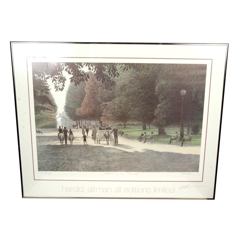 "Harold Altman Artist Proof Lithograph ""Children, Parc ..."