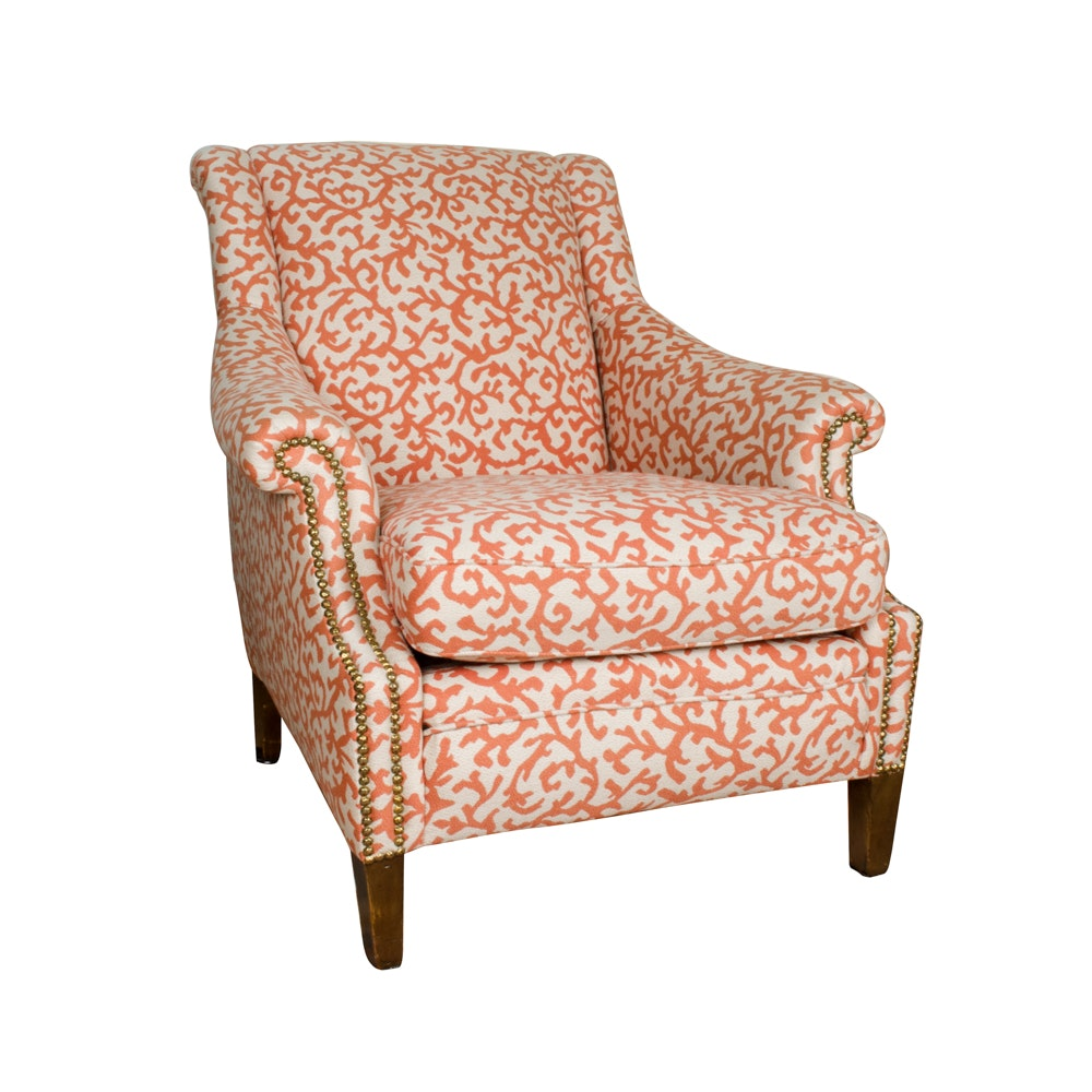 Coral Patterned Club Chair ...