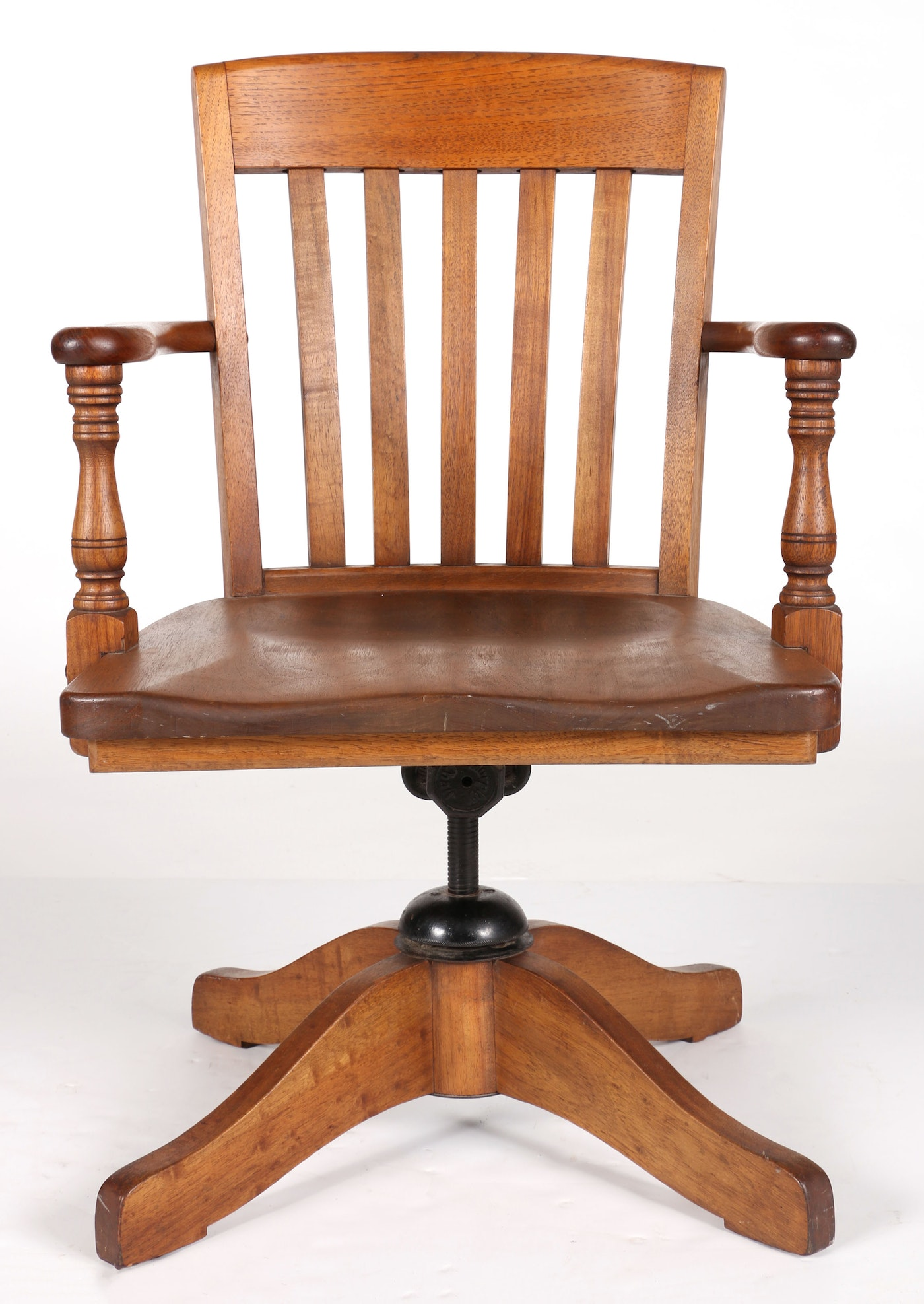 Office Equipment Co Of Chicago Oak Office Chair Ebth