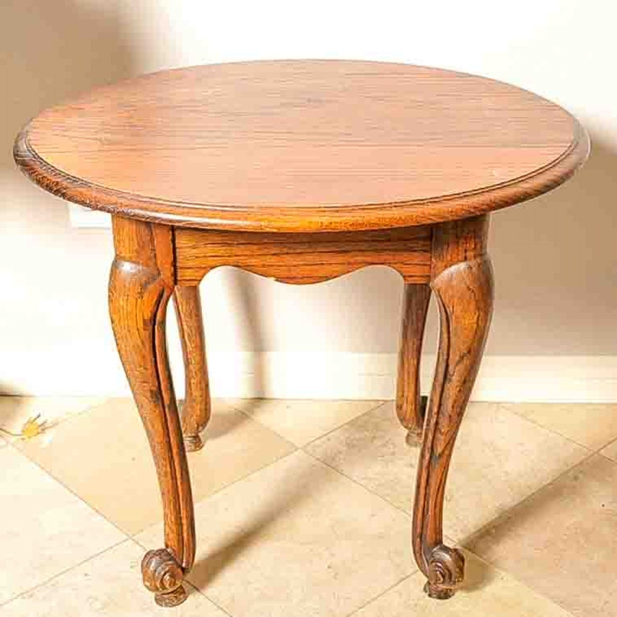 Cool Vintage French Provincial Style Oak Side Table Bralicious Painted Fabric Chair Ideas Braliciousco