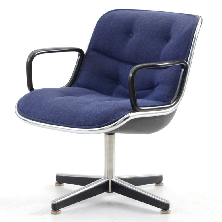 Charles Pollock Blue Executive Chair By Knoll ...