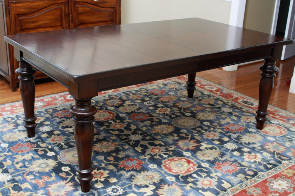 Pottery Barn quotMontegoquot Mahogany Dining Table with Leaves  : 16WDC059kalenChelsie 279jpgixlibrb 11 from www.ebth.com size 880 x 906 jpeg 169kB