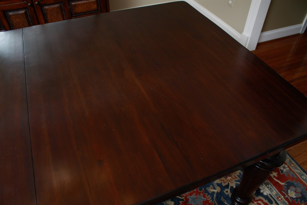 Pottery Barn quotMontegoquot Mahogany Dining Table with Leaves  : 16WDC059kalenChelsie 281jpgixlibrb 11 from www.ebth.com size 1000 x 667 jpeg 72kB