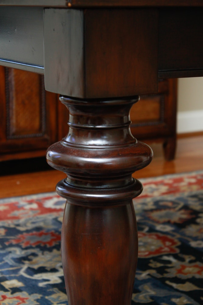 Pottery Barn quotMontegoquot Mahogany Dining Table with Leaves  : 16WDC059kalenChelsie 293jpgixlibrb 11 from www.ebth.com size 667 x 1000 jpeg 88kB