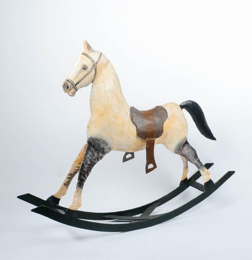 Large decorative tin rocking horse ebth - Massieve decoratieve tuin ...