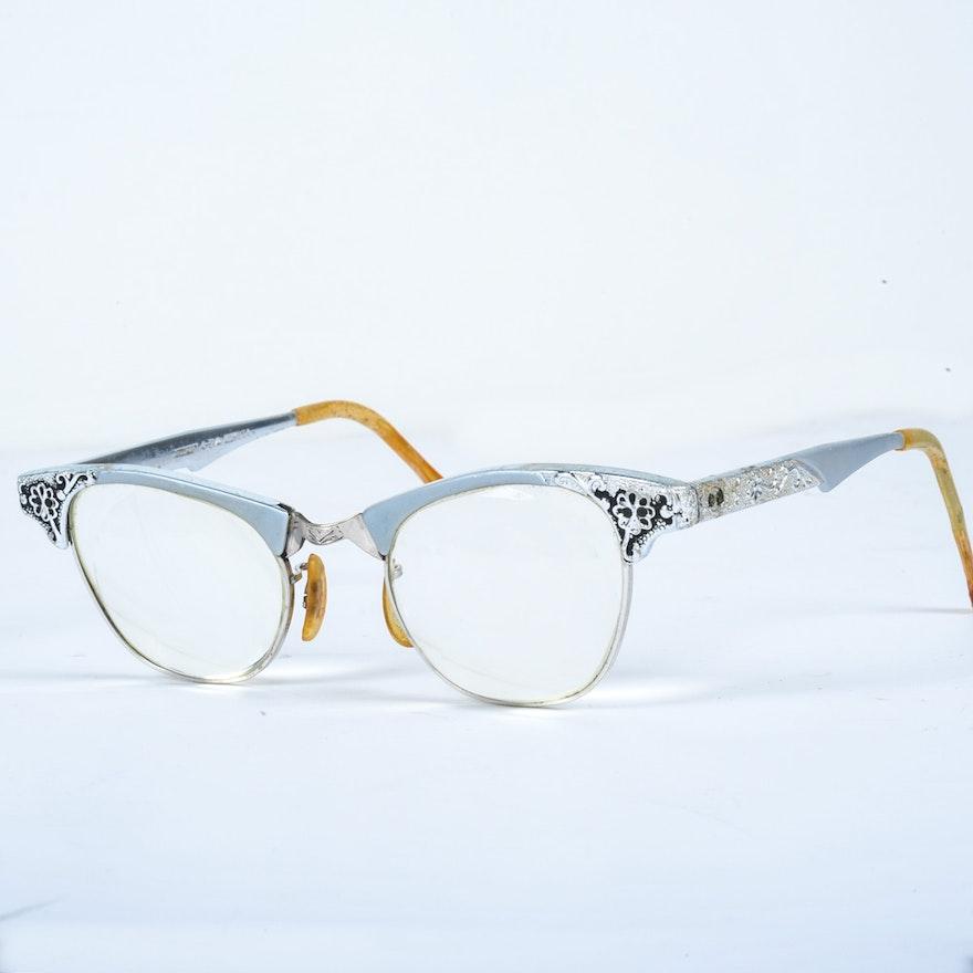455c0a40cba Vintage Artcraft Aluminum Cat Eye Glasses Frames   EBTH