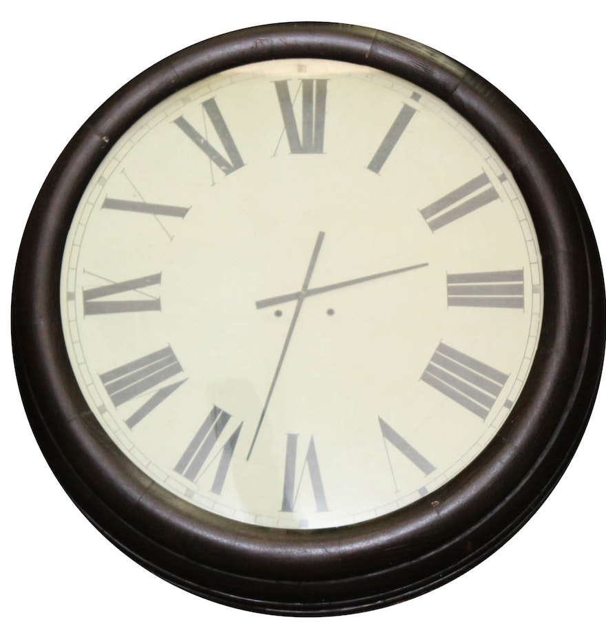 Very Large Antique Wall Clock Ebth