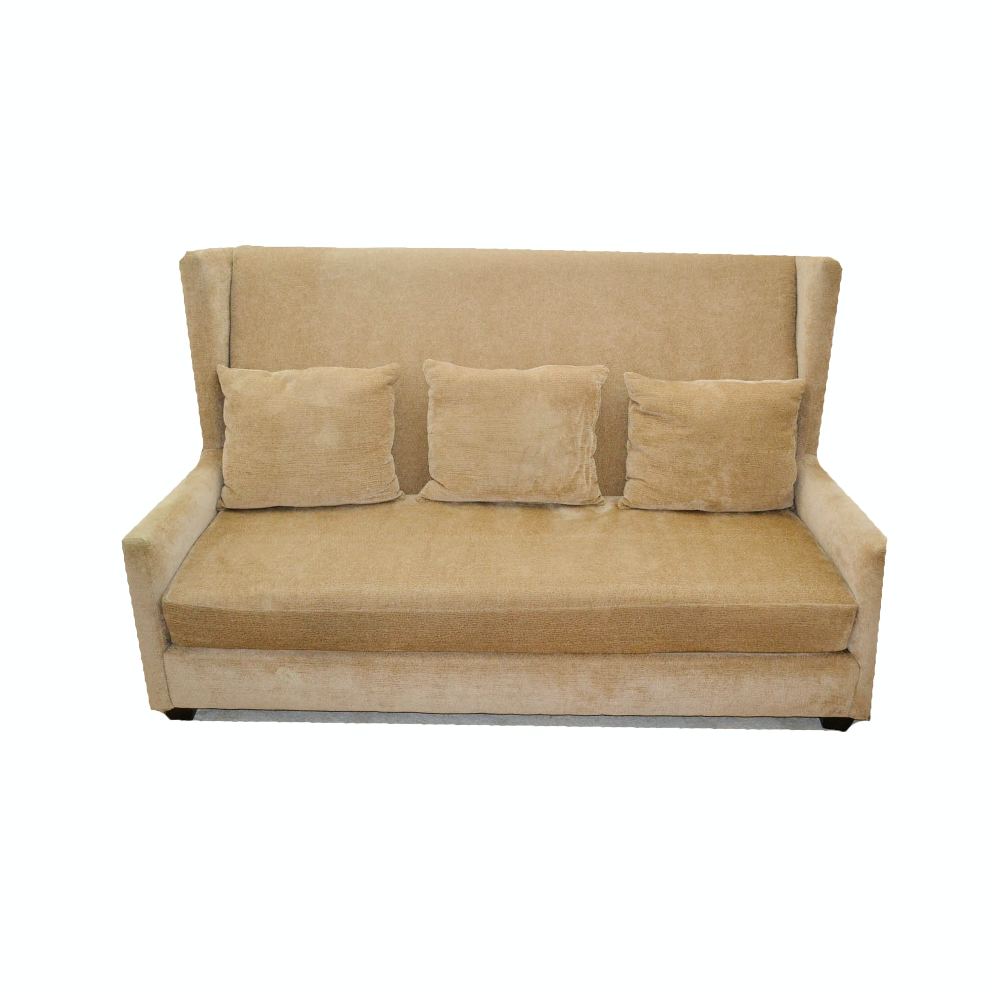 Lovely High Back Alcove Sofa By Hillcraft Furniture Company ...