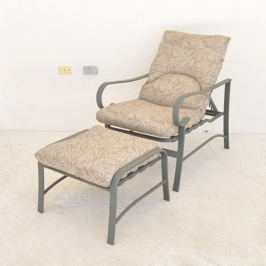 Groovy Carter Grandle Reclining Patio Lounge Chair And Ottoman Download Free Architecture Designs Grimeyleaguecom