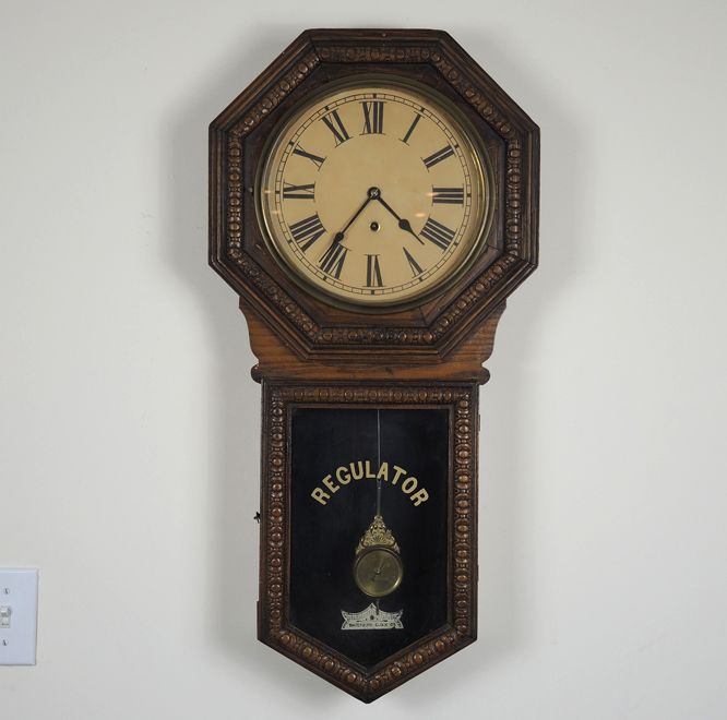 Vintage Waterbury Clock Company Regulator Pendulum Wall Clock EBTH