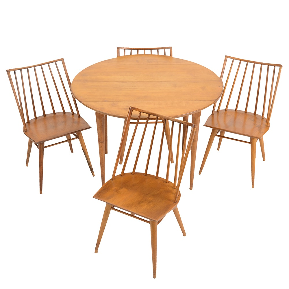 Maple Kitchen Table With Chair And Bench Ebth: Maple Wood Dining Table And Chairs By Russel Wright For
