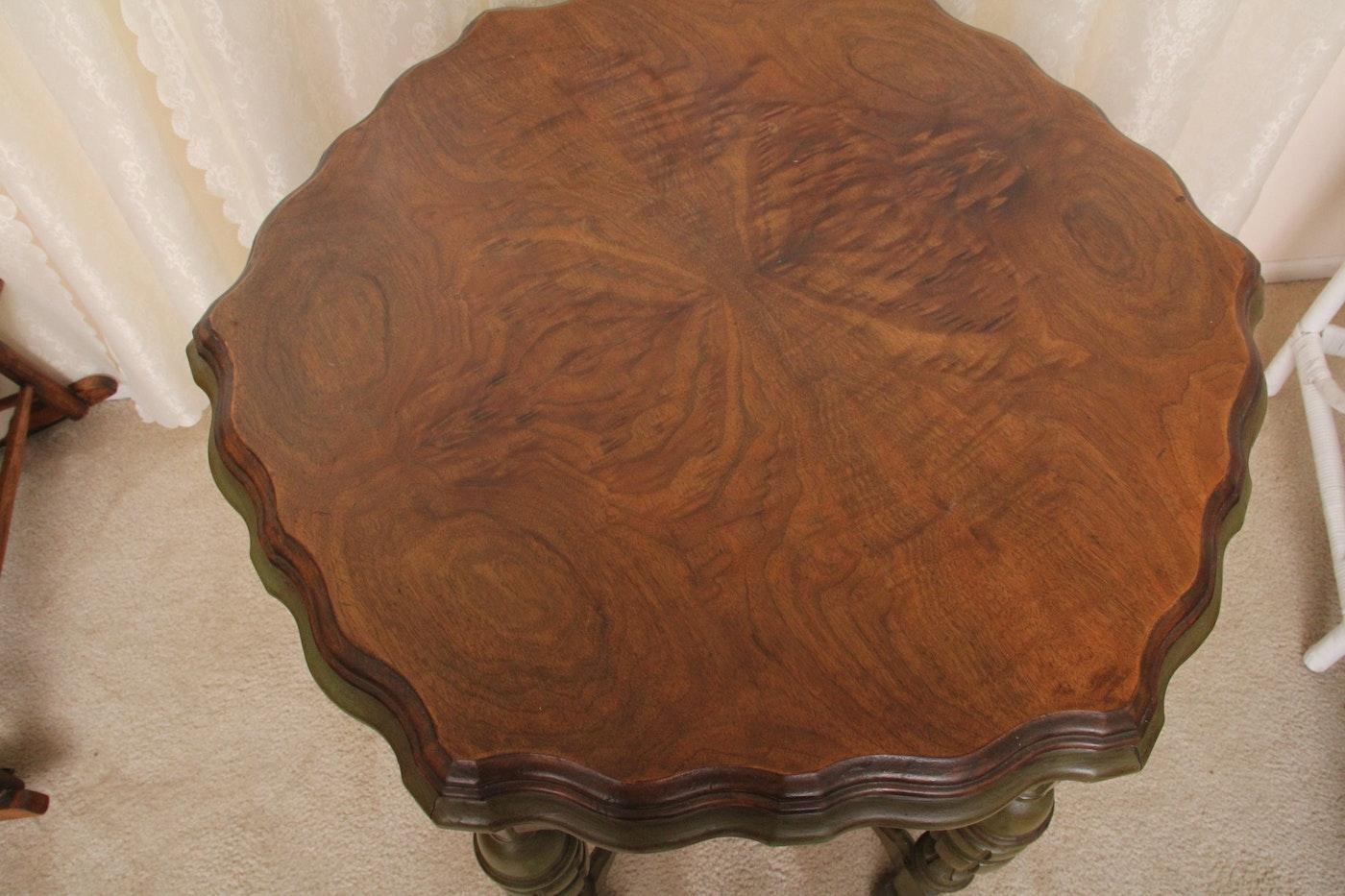 Antique Kiel Furniture Company Walnut Occasional Table Ebth