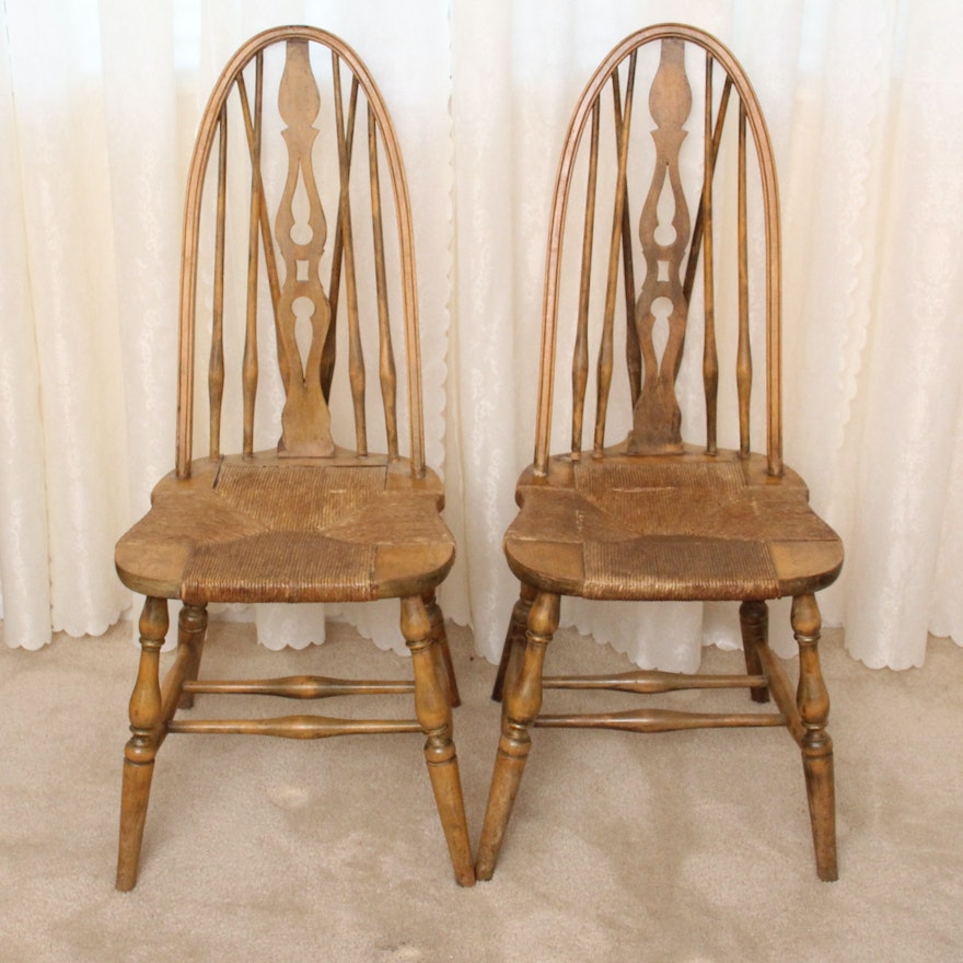 Pair Of Antique Colonial Furniture Company Windsor Chairs