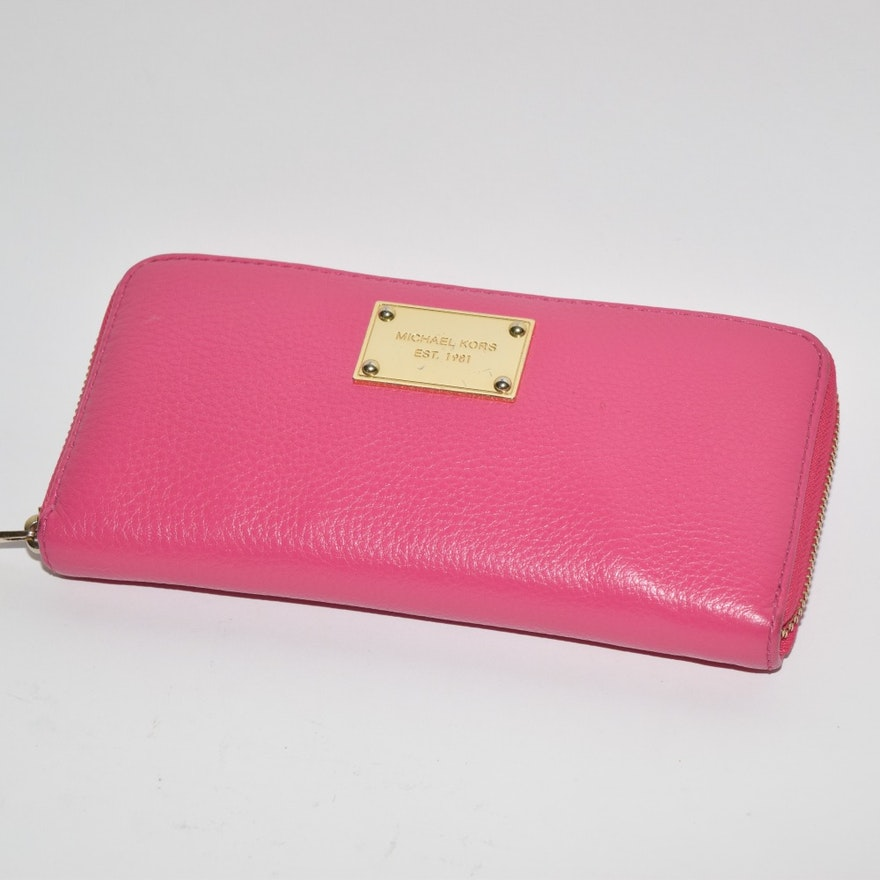 610f2baccfc0 Michael Kors Pink Leather Clutch Wallet   EBTH