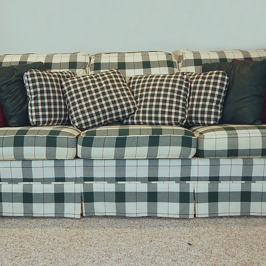 green plaid sofa awesome plaid couch 52 with additional. Black Bedroom Furniture Sets. Home Design Ideas