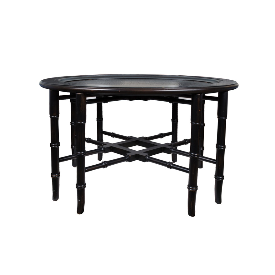 Ethan Allen Butler Tray Coffee Table: Ethan Allen Chinoiserie Tray Table
