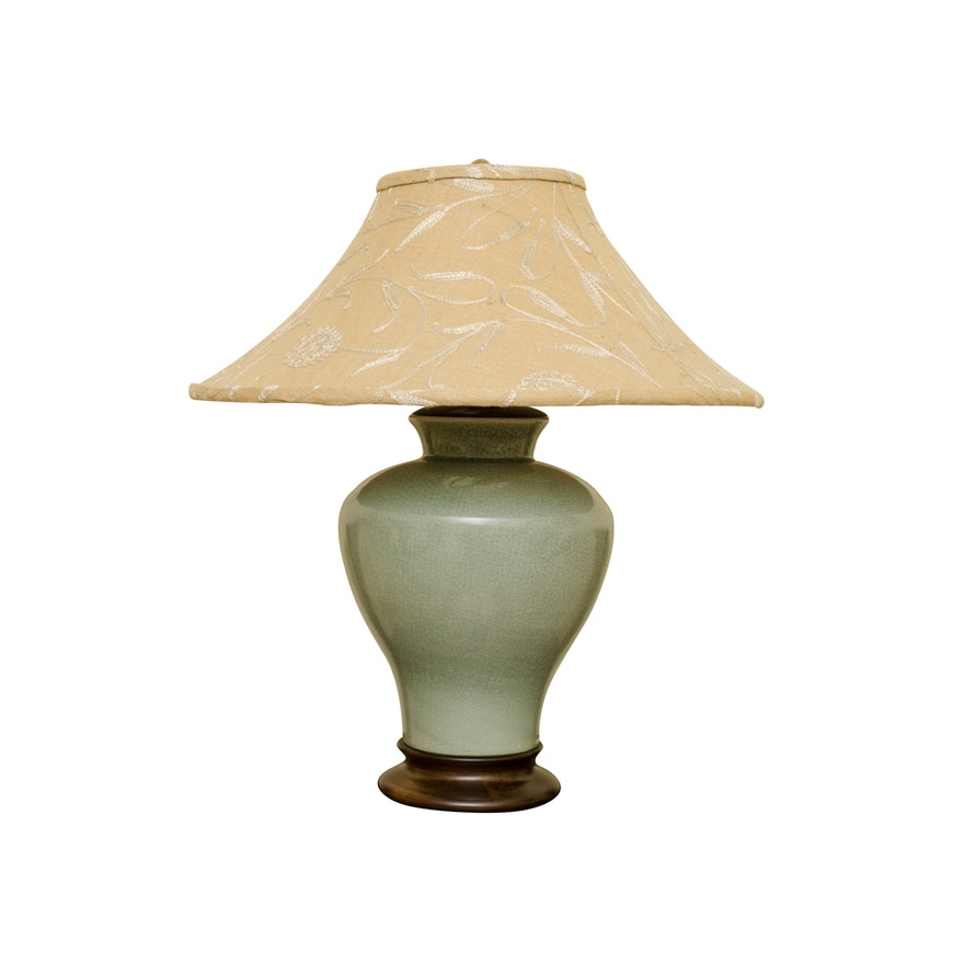 Celadon glazed frederick cooper lamp ebth celadon glazed frederick cooper lamp aloadofball Choice Image