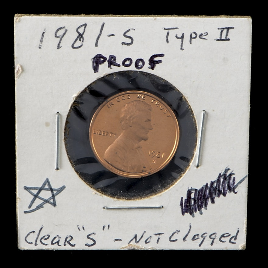 1981 S Type II Lincoln Memorial Penny Proof Coin