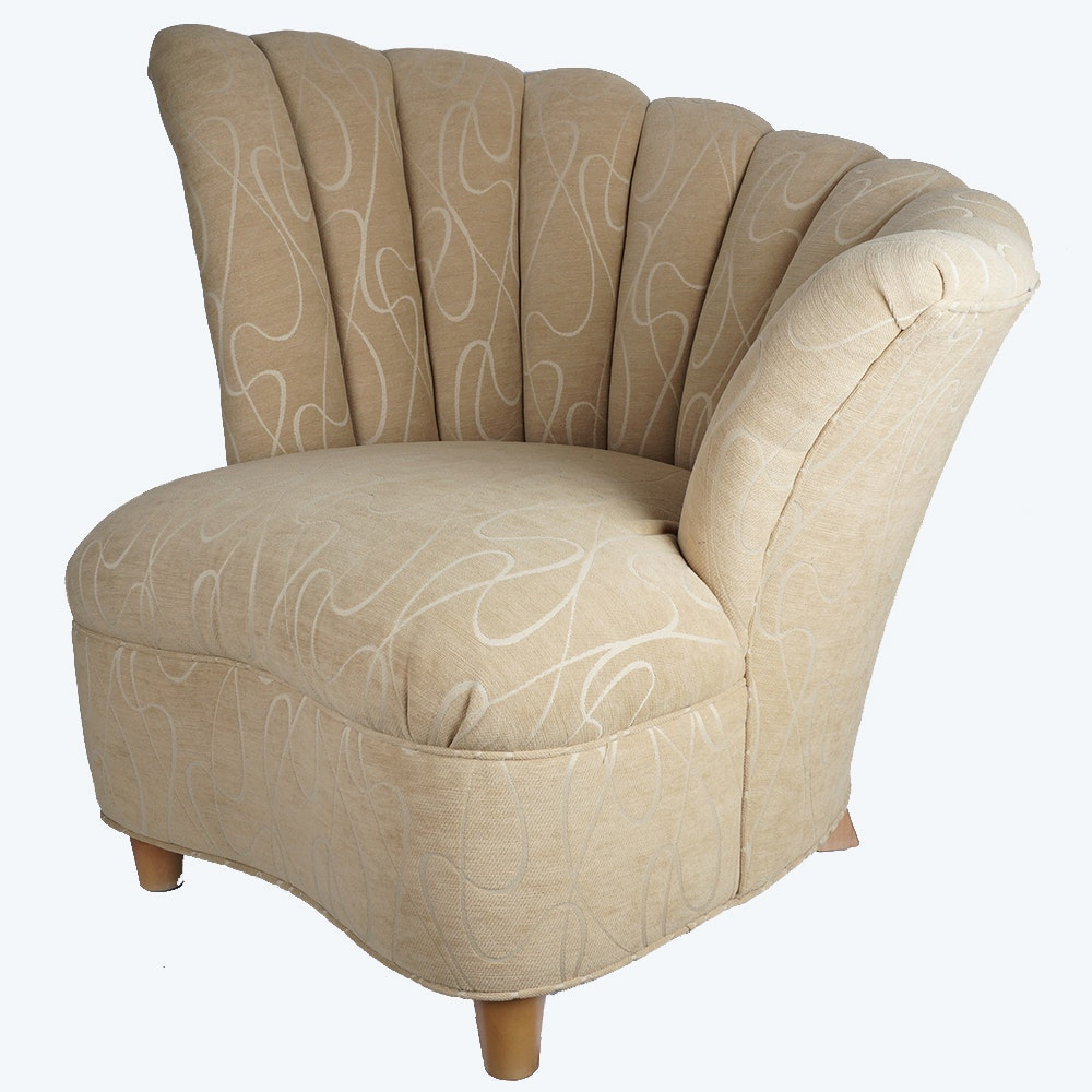 Right Facing Asymetrical Accent Chair By Sam Moore Ebth