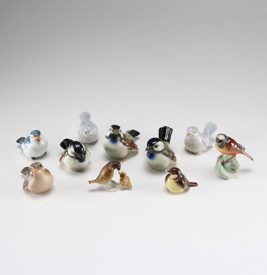 Porcelain decorative bird collection ebth for Artificial birds for decoration