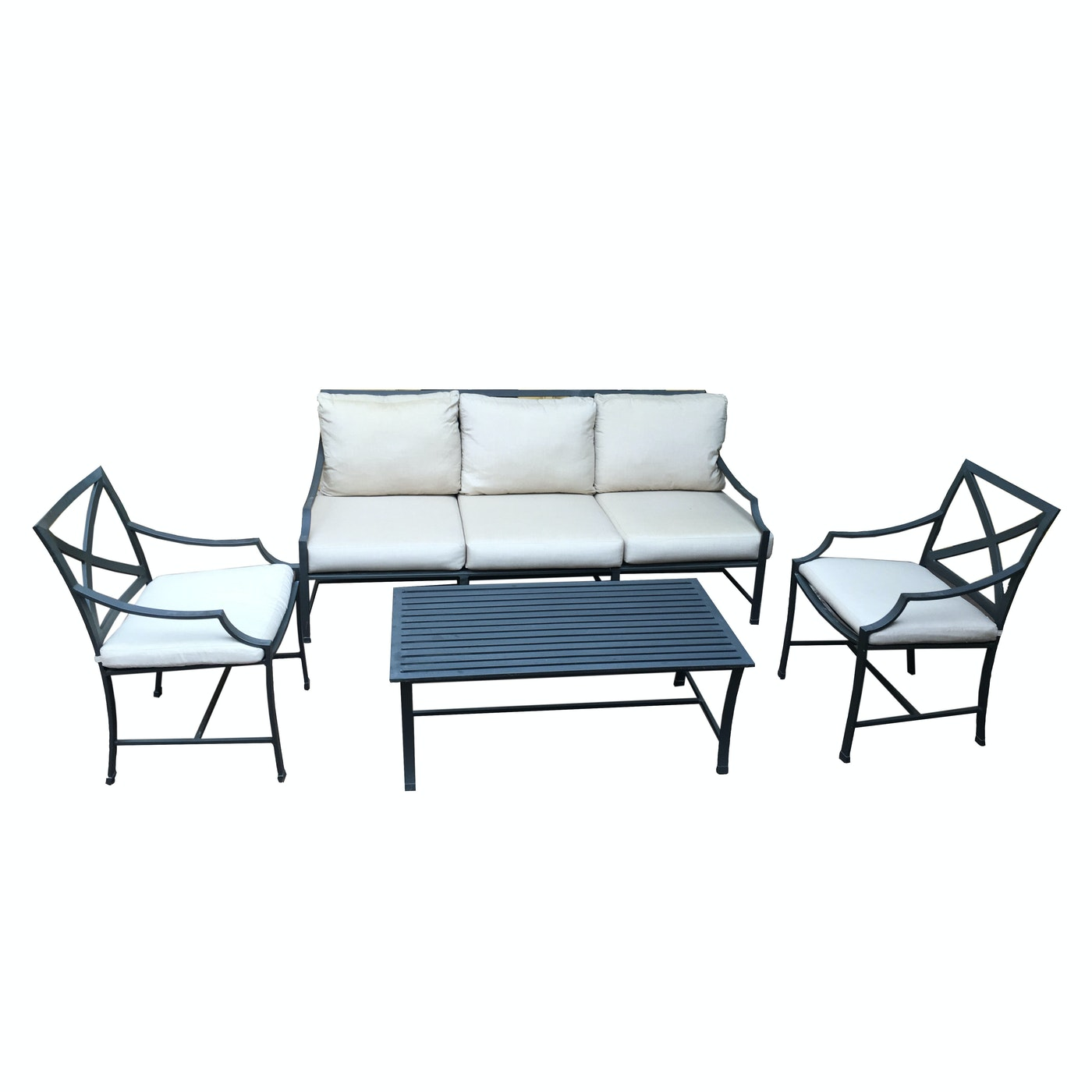 Set Of Restoration Hardware Carmel Collection Patio Furniture Ebth